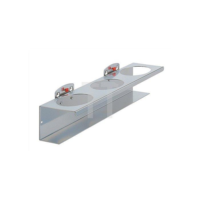 Dosenhalter 3fach B./D.300/70mm f.Lochplattensystem