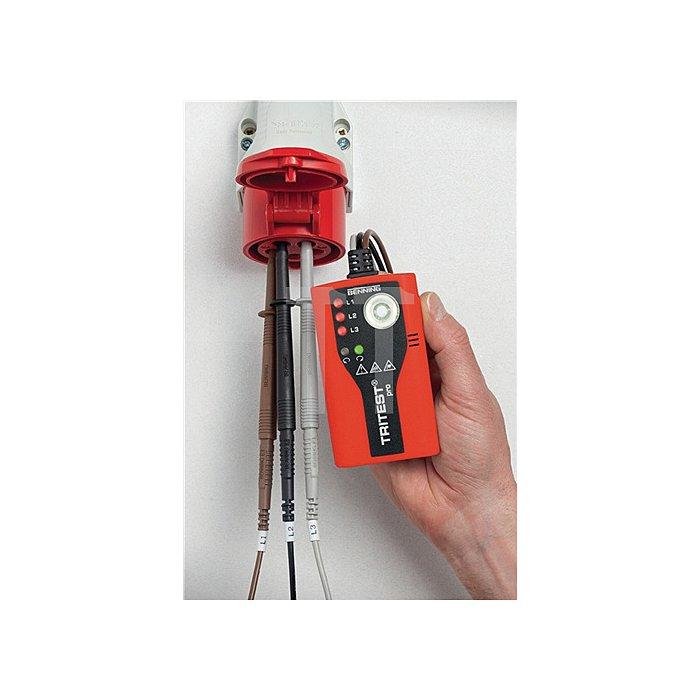 Drehfeldrichtungsanzeiger 300 - 500 Volt AC LED Leuchte Gürtelclip