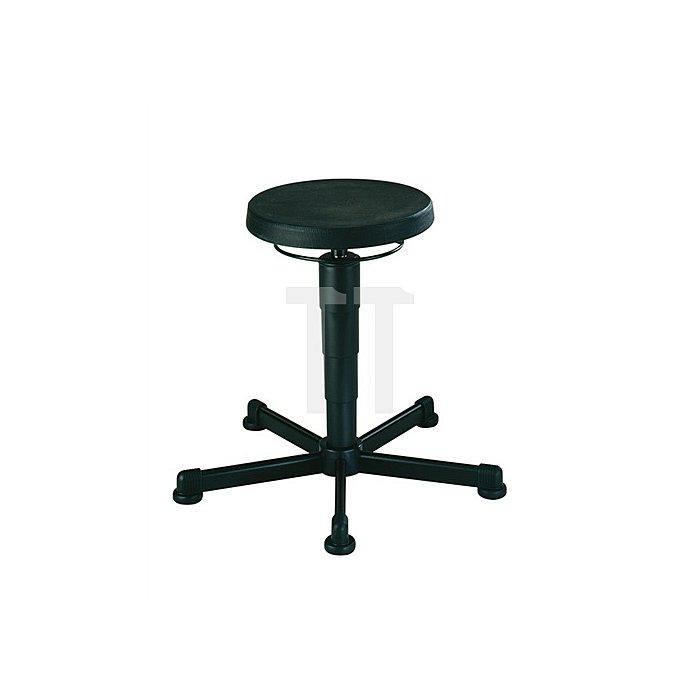 Drehhocker m.Gleitern Integralschaum Sitz-H.460-630mm Sitz-D.400mm BIMOS