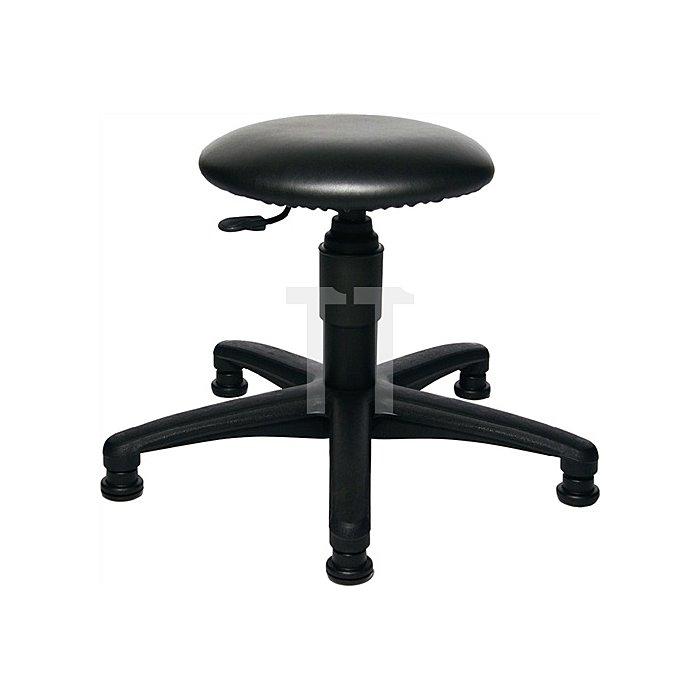 Drehhocker m.Gleitern Kunstleder Sitz-H.420-550mm Sitz-D.360mm