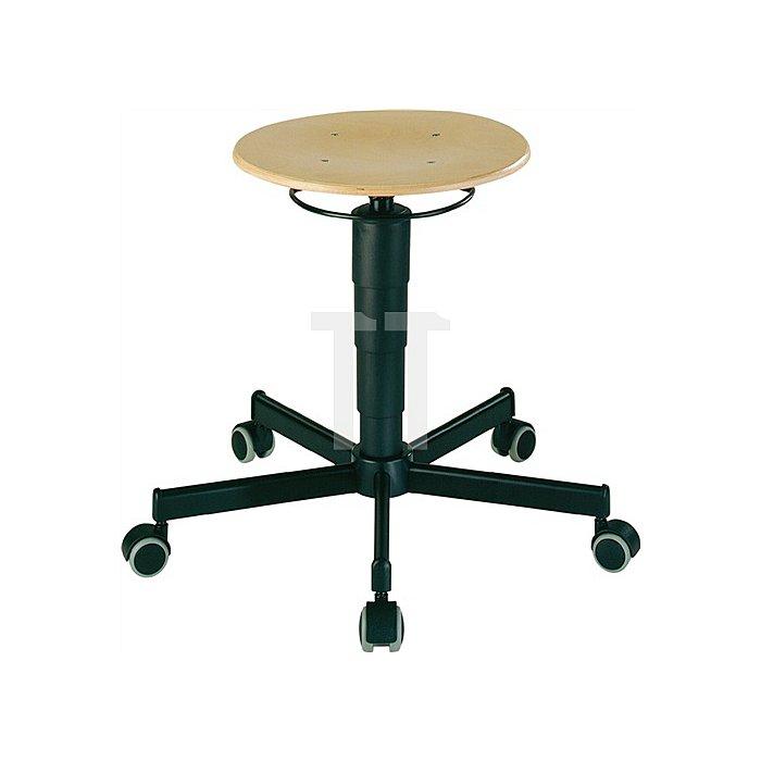 Drehhocker m.Rollen Buche Sitz-H.460-630mm Sitz-D.350mm BIMOS