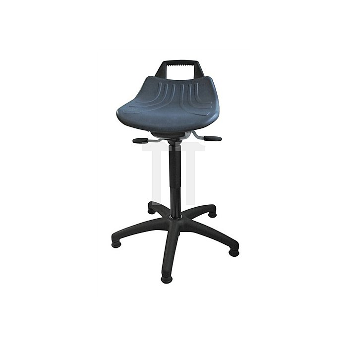 Drehhocker Sitz PU-Schaum blau mit Gleitern