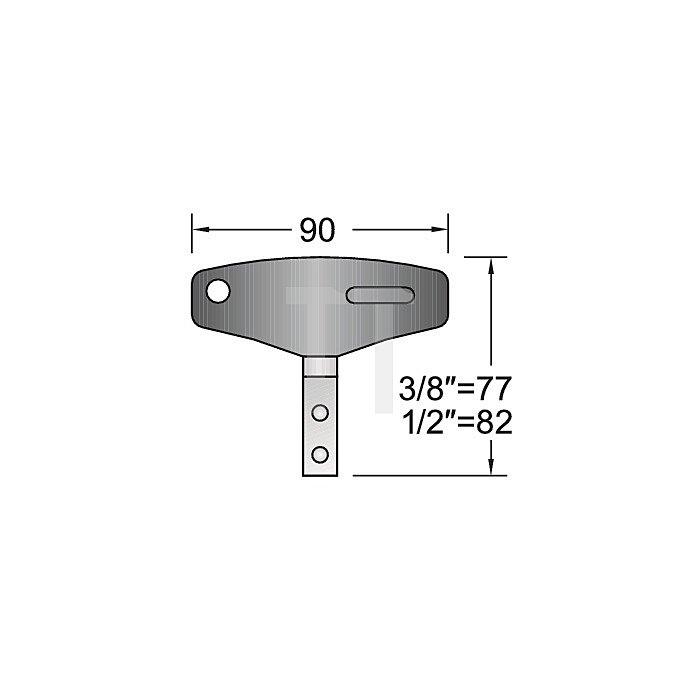 Drehmomentschlüssel T-Griff 1/2Zoll