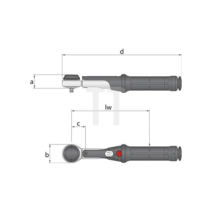 Drehmomentschlüssel TORCOFIX K US 1/2Zoll 10-75 lbf.ft