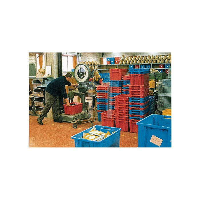 Drehstapelbehälter 25l PP rot 1,1kg L.500xB.380xH.200mm