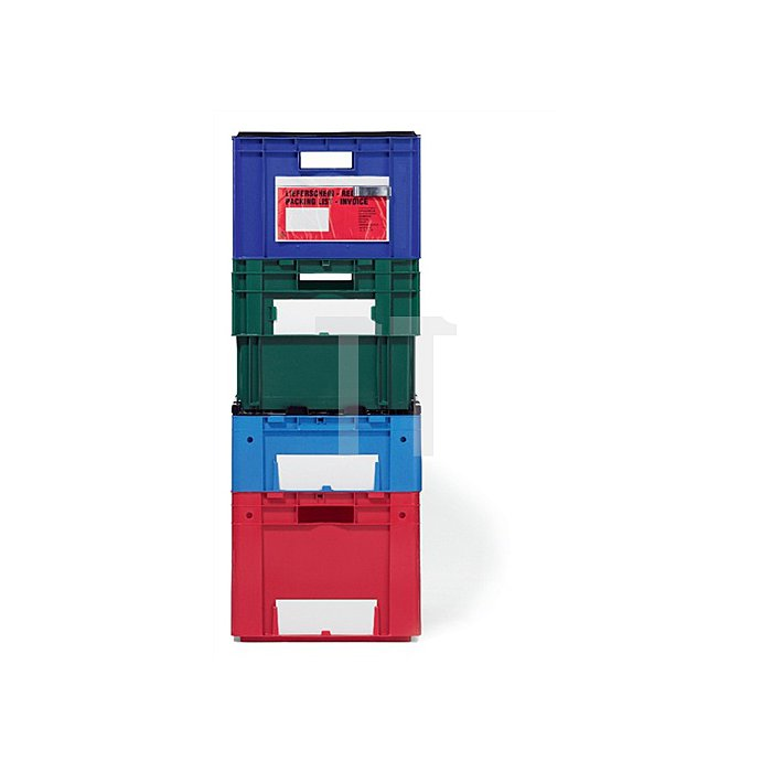 Drehstapelbehälter PP blau Trgf.70kg L.600xB.420xH.320mm