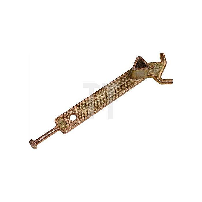Dreikantschlüssel DIN3222 für Absperrpfosten mit Haken