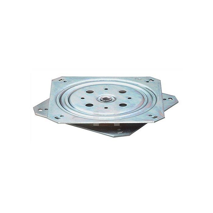 Druck-Kugellager Platte 57x57mm Höhe 10,5mm Stahl verzinkt Tragfähigkeit 50kg