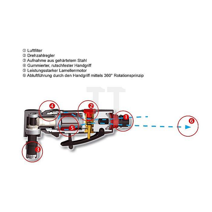 Druckluftschleifer (90° Winkelkopf)