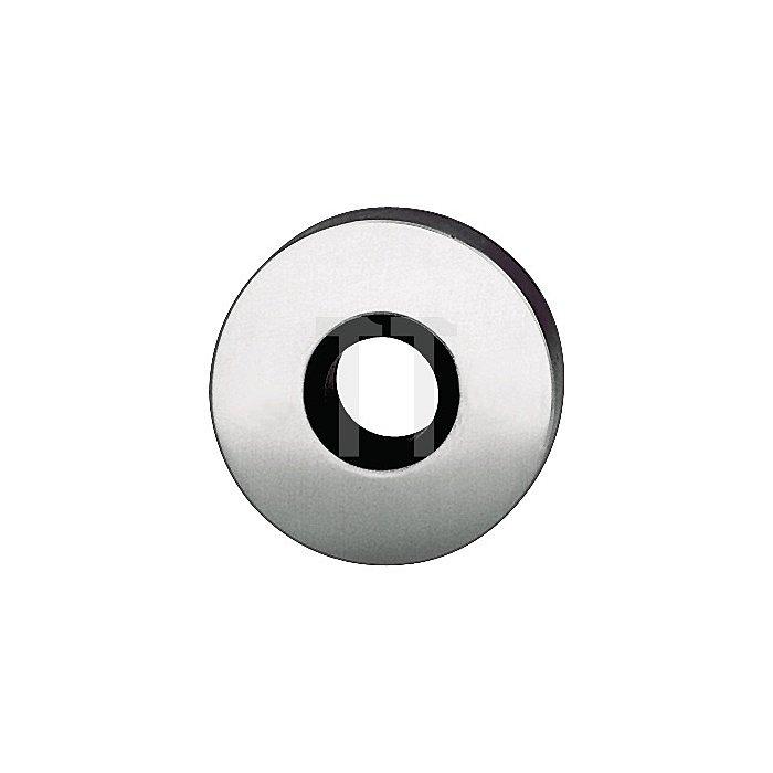 Drückerrosette 1731 Durchmesser 55mm flach Alu F1 für festdrehbare Lagerung