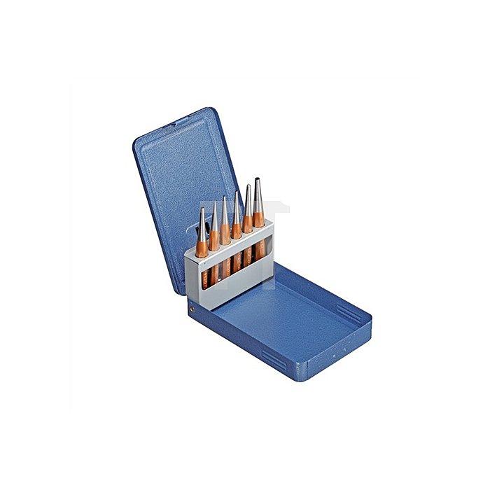 Durchtreibersatz 6tlg. in Metallklappkassette