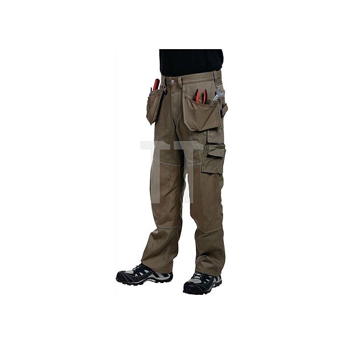 Edge Funktionsbundhose Gr.C56 Skater Khaki 65%PES/35%BW.Verstärkung 100%Cordura®