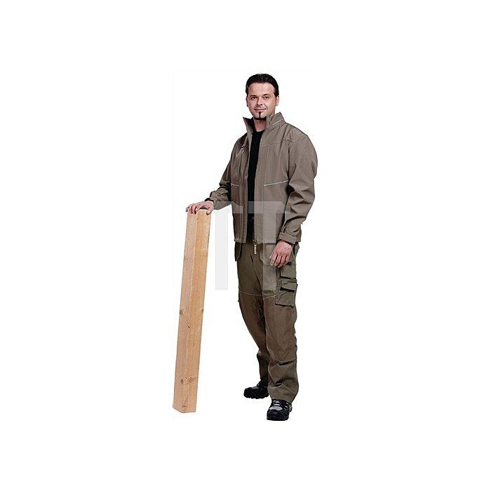 Edge Softshell-Jacke Gr.M Skater Khaki 83% Polyester / 17% Polyurethan