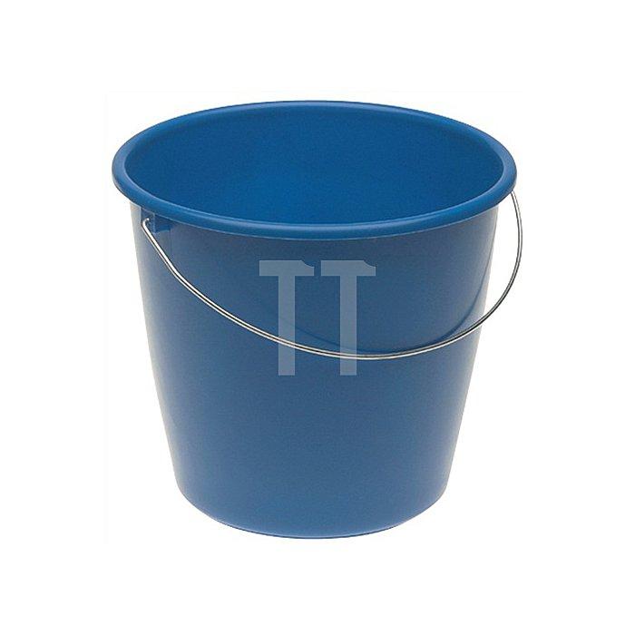 Eimer Ku. 10l Mischplastik m.Maßeinteilung u.Metallbügel