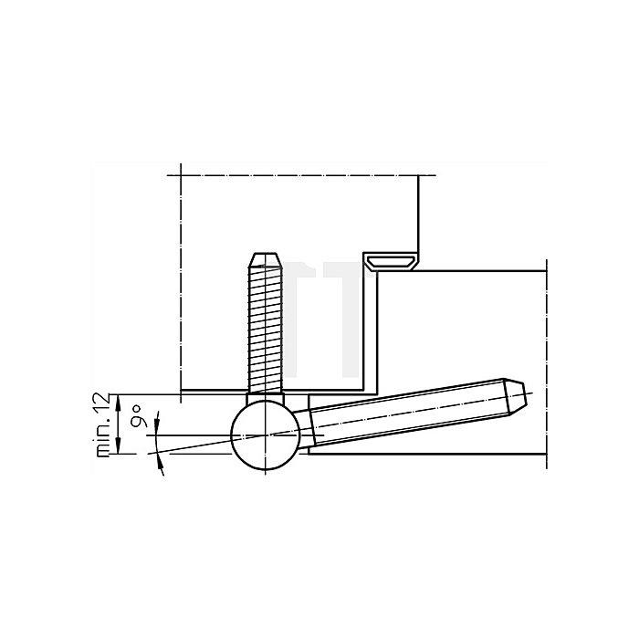 Einbohrband BAKA B 1-15 Rollen-L.75mm Rollen-D.15mm Stahl topzink 2-teilig