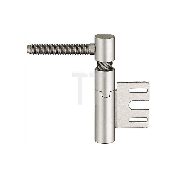 Einbohrband V 8550 Steigung b. 6mm DIN re. Stahl vernickelt f. gefälzte Türen