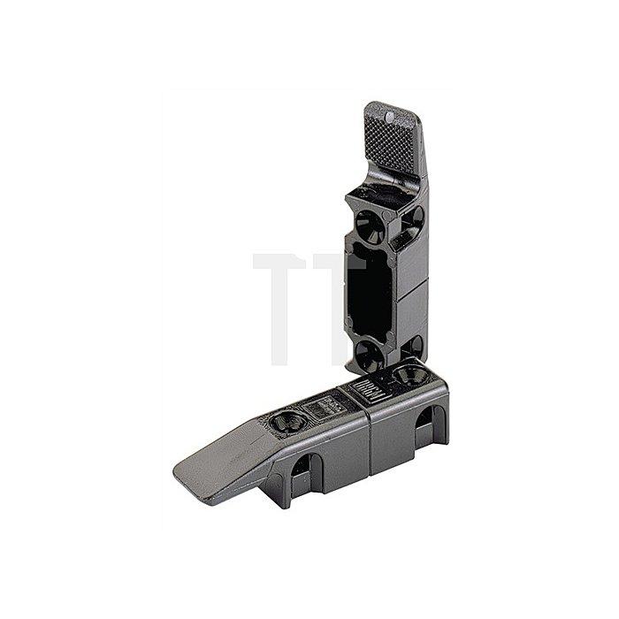 Einhängebeschlag Multi Clip 046080 L. 64mm Thermoplast schwarz