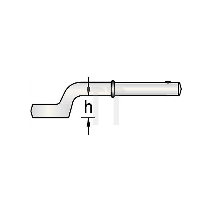 Einringschlüssel SW 24mm 12KT o.Drehstift CV.