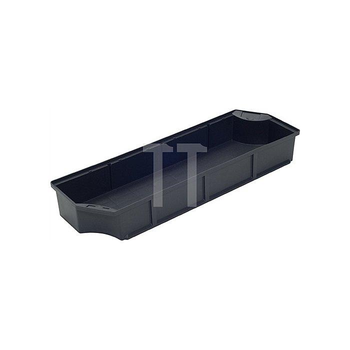 Einsatzkasten L546xB173xH80mm für Transportbehälter L.600mm anthrazit PP