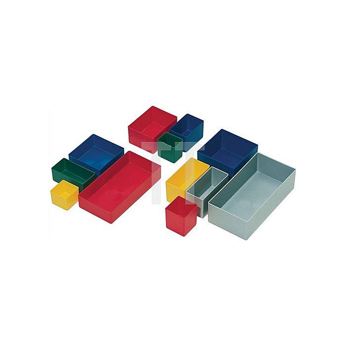 Einsatzkasten rot L106xB80xH54mm für Sortimentskästen PS 25 St./VE