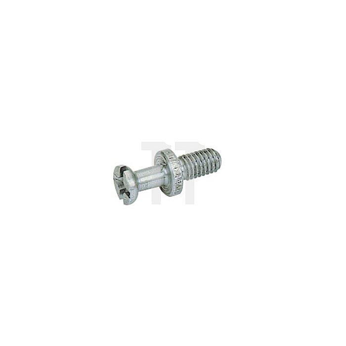 Einschraubdübel DU426 /065370 Spannmaße 6,7mm Stahl blank Gewinde M4 x 7,8mm