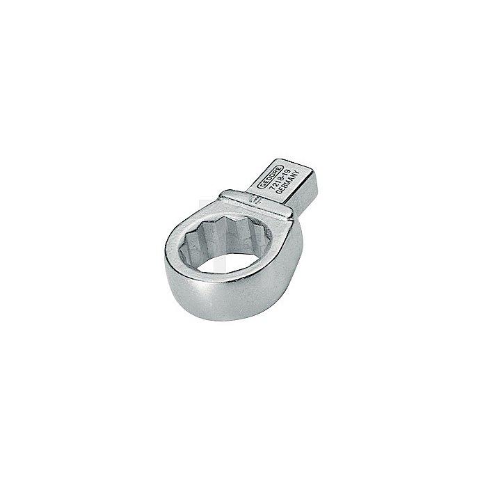 Einsteck-Ringschlüssel 15mm 14x18 matt Chrom CV.