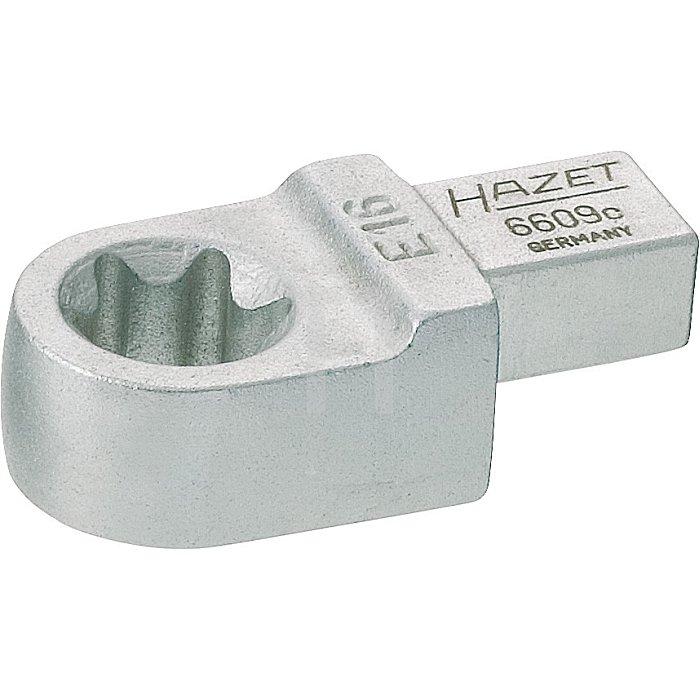 Hazet Einsteck TORX® Ringschlüssel E18, Einsteck-Vierkant 14 x 18mm, Außen TORX® 6609-E18