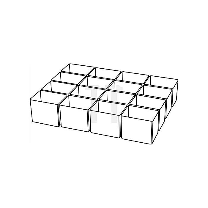 Einteilungsset 16tlg. transp. B.39xT.55xH.47mm f.Art.-Nr.871325-871332