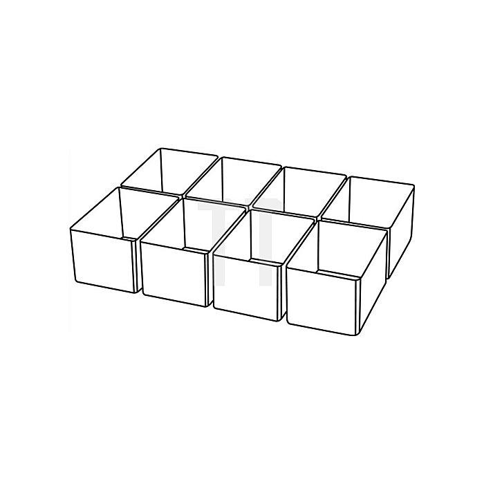 Einteilungsset 8tlg. transp. B.55xT.79xH.47mm f.Art.-Nr.871325-871332