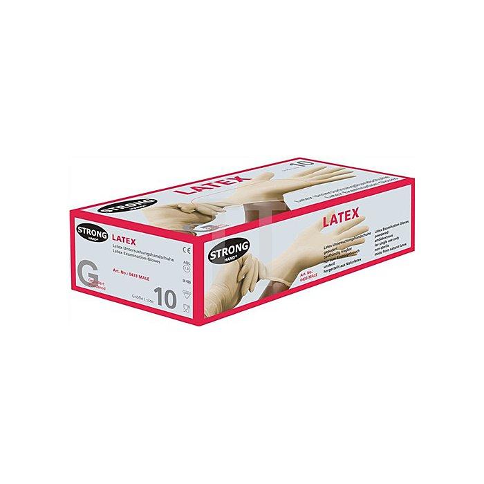 Einweghandschuh EN 455 AQ 1,5 Male Gr.M Latex Box à 100 Stück