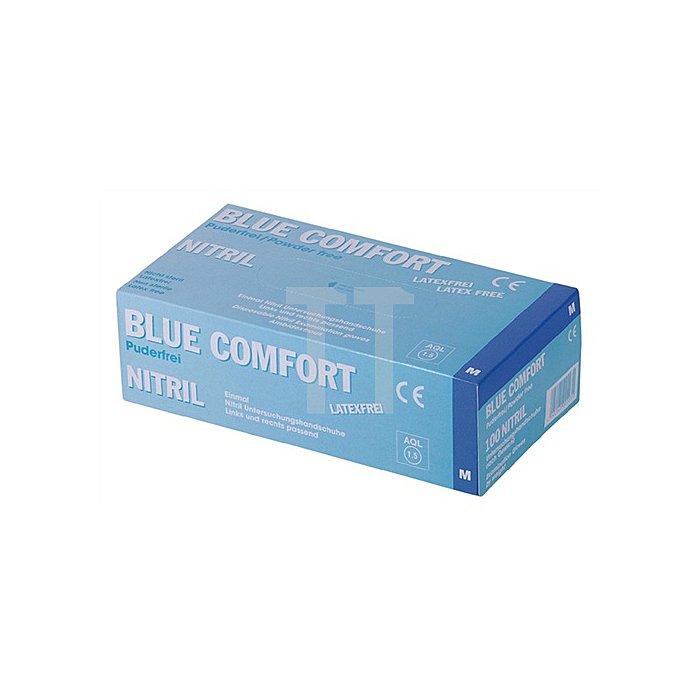 Einwegnitrilhandschuhe Gr. M blau puderfrei 100 Stück / Box