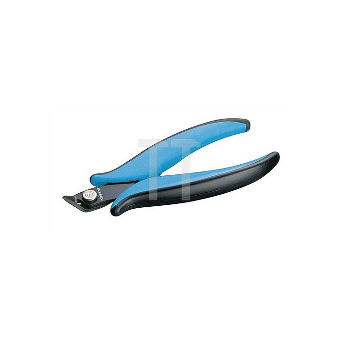 Elektronik-Seitenschneider breiter spitzer Kopf 2Komp.-Griff 136mm