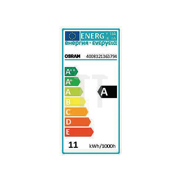 Energiesparlampe 11W E27 Lichtstr. 600Lm warm weiss Tube L.125mm 6000h Energy A