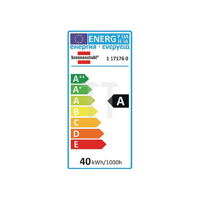 Energiesparlampe 40W L.188mm D.67mm 230Vm. E27 Sockel 2835 Lm Energieeffiz A