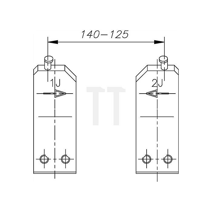 Ersatzspitze E-8005 2 J Ersatzteil für Sicherungsringe 80-140mm Gedore