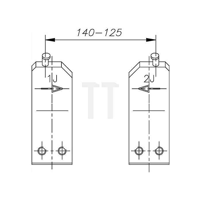 Ersatzspitze E-8005 4 J Ersatzteil für Sicherungsringe 80-140mm Gedore