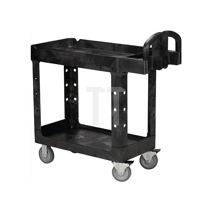 Etagenwagen mit 2 Etagen Trgf.226kg L990xB450xH850mm Kunststoff schwarz