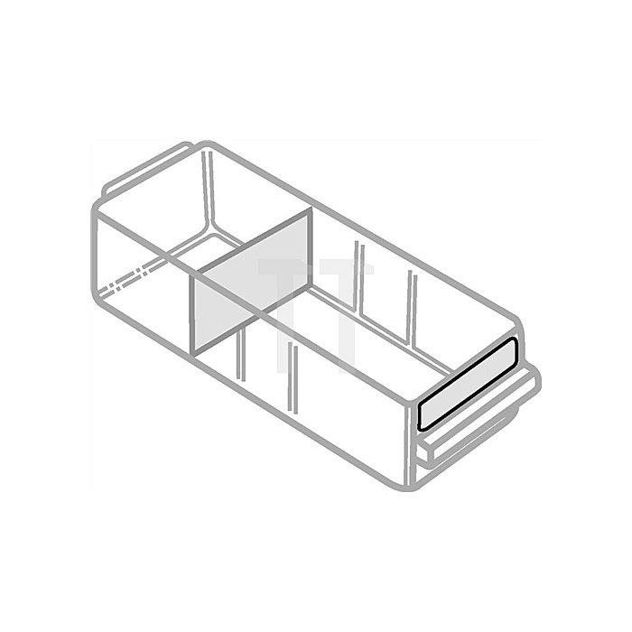 Etikettensatz 6St. B.315xH.15mm f.Schubl. Typ E weiss/klar