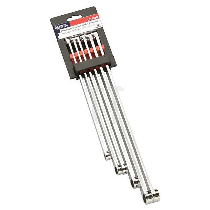 Extra langes Doppelring Schlüsselset mit 0° Offset metrisch 6tlg.