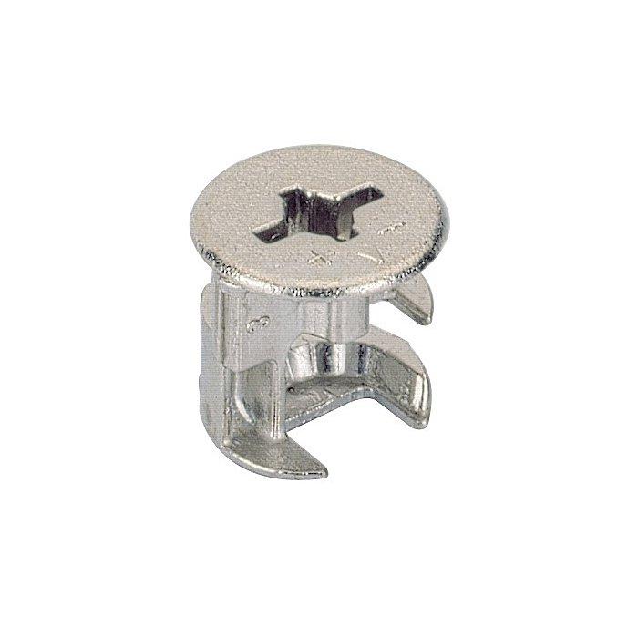 Exzenter-Verbinder Rastex 15 / 071948 f. Fachboden 16mm Zinkdruckguss vernickelt