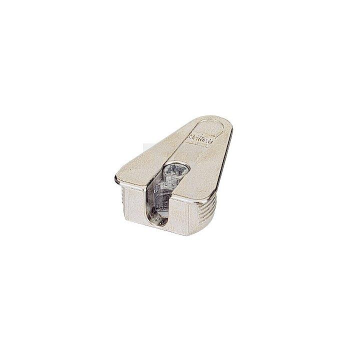 Exzenter-Verbinder VB 21D / 047454 f. Fachboden 19-20mm Zinkdruckguss vernickelt
