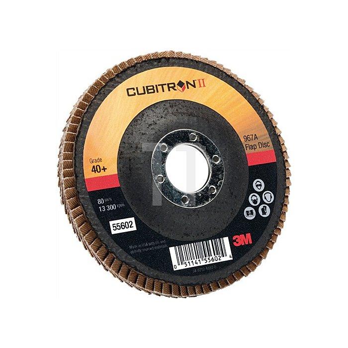 Fächerschleifscheibe Cubitron II 967A D.125mmx22mm K.40 flach