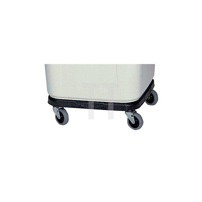 Fahrgestell eckig schwarz 4Rollen f.alle Mehrzweckbehälter