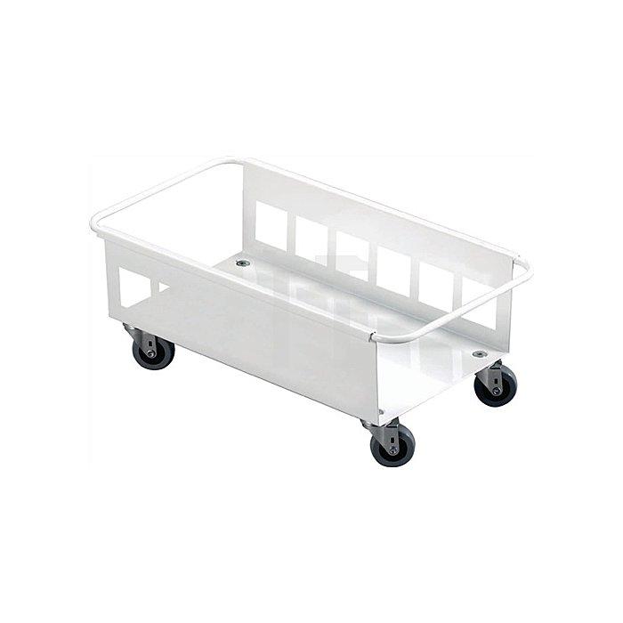 Fahrgestell weiss für Wertstoffsammler 60l H180xB470xT260mm