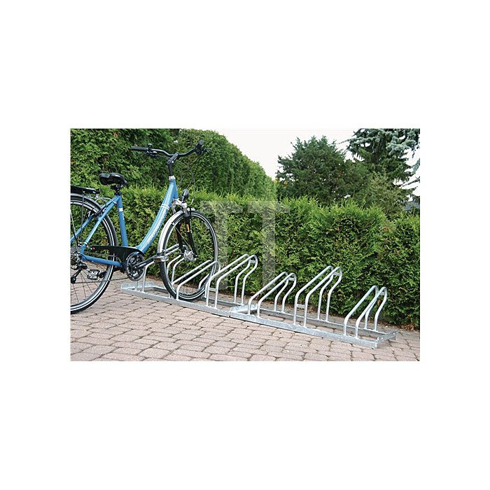 Fahrrad-Bügelparker 6er 1seitig Radabstand 350mm