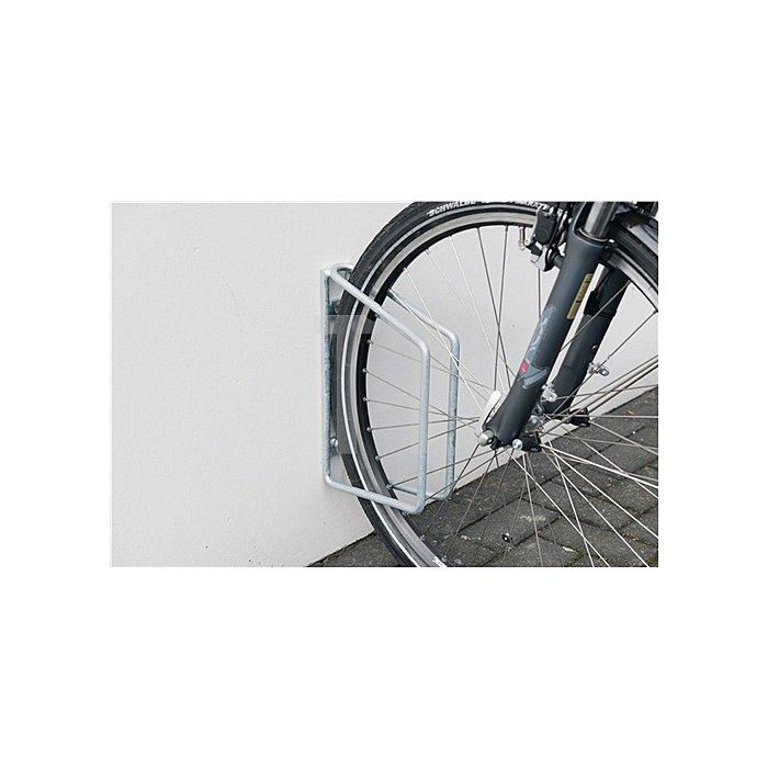 Fahrradklemmbügel 1er 45Grad verz. H.350xB.68xT.220mm Wandbefestigung