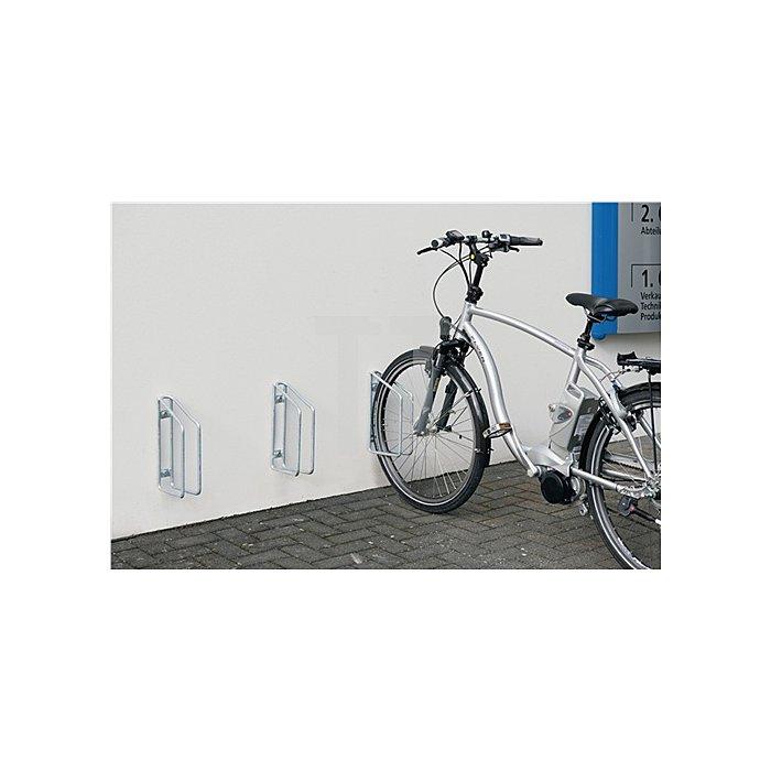 Fahrradklemmbügel 1er 90Grad verz. H.350xB.68xT.220mm Wandbefestigung
