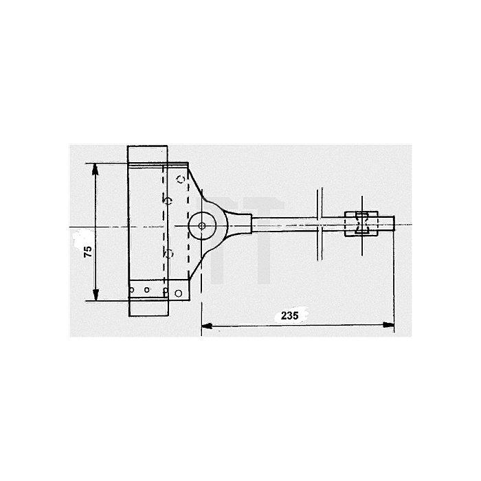 Feder-Türschließer Stahl verz. bis 25Kg