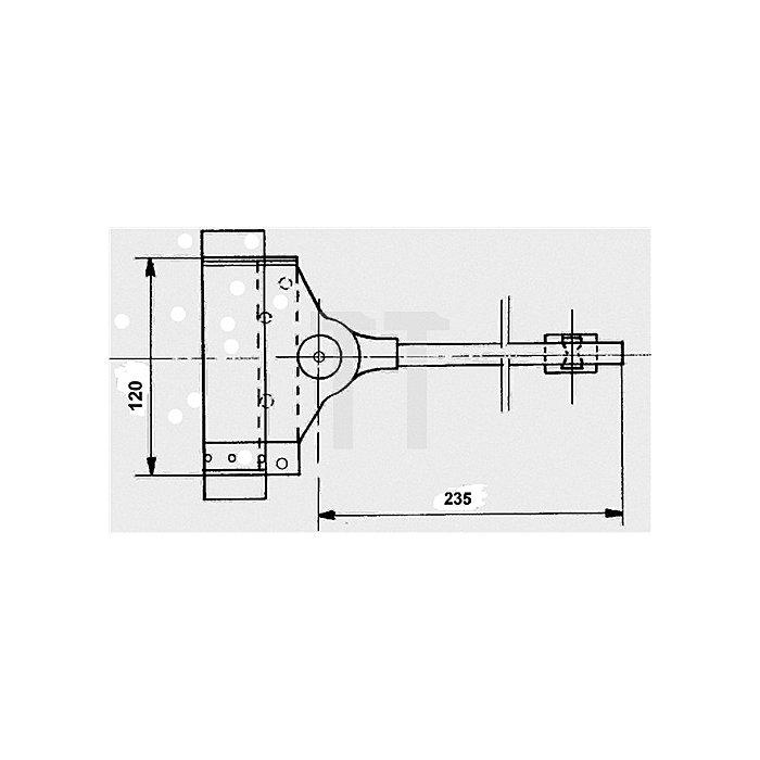 Feder-Türschließer Stahl verz. bis 60kg