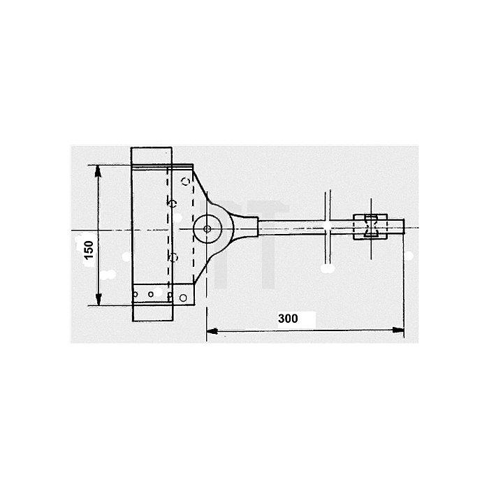 Feder-Türschließer Stahl verz. bis 80kg